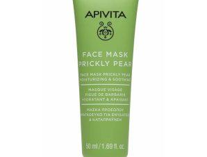 Apivita Face Mask Prickly Pear Μάσκα Προσώπου με Φραγκόσυκο για Ενυδάτωση & Καταπράυνση 50ml