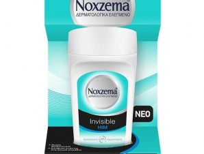Noxzema Deo Roll-On Invisible Him Ανδρικό Αποσμητικό Κατά των Λευκών Σημαδιών 50ml