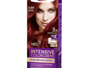 Schwarzkopf Palette Intensive Color Creme Επαγγελματική Μόνιμη Κρέμα Βαφή Μαλλιών, Απόλυτη Κάλυψη & Αποτέλεσμα Διάρκειας – 6.65 Έντονο Κόκκινο