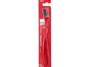Intermed Professional Ergonomic Toothbrush Soft Επαγγελματική Εργονομική Οδοντόβουρτσα Μαλακή, 1 Τεμάχιο – κόκκινο
