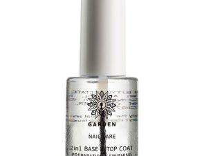 Garden Nail Care 2in1 Base & Top Coat Preparation & Finishing Προστατεύει τα Νύχια και Παρατείνει τη Διάρκεια του Χρώματος 10ml