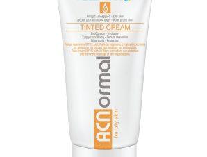 Helenvita ACNormal Tinted Cream Αντηλιακή Κρέμα Προσώπου Spf15 με Χρώμα για την Κάλυψη των Ατελειών της Λιπαρής Επιδερμίδας 60ml