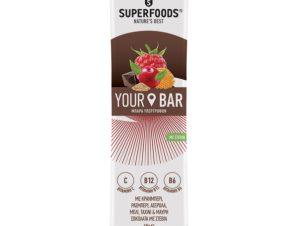 Superfoods Your Bar Cranberry με Κράνμπερι, Ρασμπερι, Μαύρη Σοκολάτα,Στέβια, Μέλι & Ταχίνι 45gr