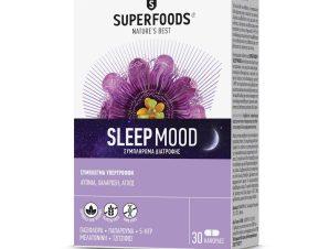 Superfoods Sleep Mood Συμπλήρωμα Διατροφής που Συμβάλλει στην Μείωση της Αϋπνίας & του Άγχους 30 Caps