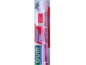 Gum Technique PRO Compact Medium Οδοντόβουρτσα με Θήκη Προστασίας (528) – μωβ