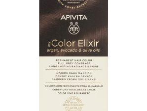 Apivita My Color Elixir Μόνιμη Βαφή Μαλλιών με Καινοτόμο Σύστημα Color Magnet που Σταθεροποιεί και Σφραγίζει το Χρώμα στην Τρίχα – N5.35 ΚΑΣΤΑΝΟ ΑΝΟΙΧΤΟ ΜΕΛΙ ΜΑΟΝΙ