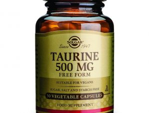 Solgar Taurine 500mg Συμπλήρωμα Διατροφής για τη Φυσιολογική Λειτουργία του Εγκεφάλου,της Καρδιάς & των Οφθαλμών 50veg.caps
