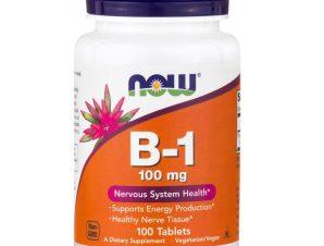 Now Foods B-1 Παρεμβαίνει στη Σύνθεση των Νευρικών Ιστών και στην Καλή Λειτουργία του Εγκεφάλου 100mg 100tabs