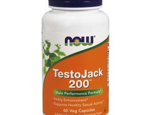 Now Foods Testojack 200, 200mg Συμπλήρωμα Διατροφής για την Αύξηση της Φυσικής Τεστοστερόνης & της Ενέργειας 60 vegcaps