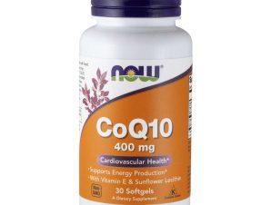 Now Foods CoQ10 400mg With Vitamin E & Lecithin Συμπλήρωμα για Υγιές Καρδιαγγειακό Σύστημα με Αντιοξειδωτική Δράση 30 Softgels