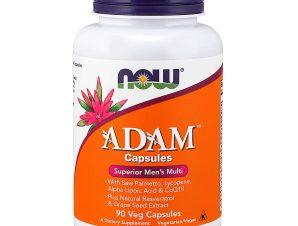 Now Foods Adam Men's Multiple Vitamin Συμπλήρωμα Διατροφής Πολυβιταμινούχος Φόρμουλα Ειδικά Σχεδιασμένη για τον Άνδρα 90Veg.caps