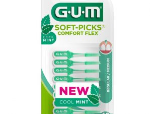 Gum Soft-Picks Comfort Flex Cool Mint Regular Medium 670 Μεσοδόντια Βουρτσάκια 40 Τεμάχια