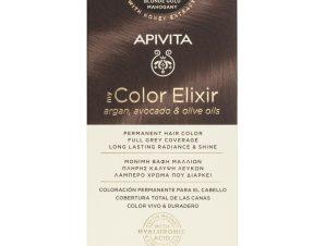 Apivita My Color Elixir Μόνιμη Βαφή Μαλλιών με Καινοτόμο Σύστημα Color Magnet που Σταθεροποιεί και Σφραγίζει το Χρώμα στην Τρίχα – N7.35 ΞΑΝΘΟ ΜΕΛΙ ΜΑΟΝΙ