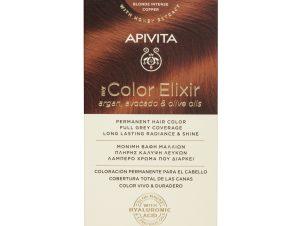 Apivita My Color Elixir Μόνιμη Βαφή Μαλλιών με Καινοτόμο Σύστημα Color Magnet που Σταθεροποιεί και Σφραγίζει το Χρώμα στην Τρίχα – N 7.44 ΞΑΝΘΟ ΕΝΤΟΝΟ ΧΑΛΚΙΝΟ