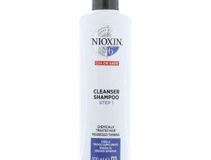 Nioxin Shampoo System 6 Step 1 Σαμπουάν Τριχόπτωσης για Εμφανώς Αραιωμένα Χημικά Επεξεργασμένα Μαλλιά 300ml