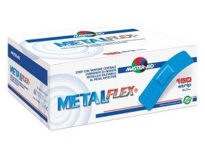 Master Aid Metal Flex Stips Blue 86mm X 25mm Ανθεκτικά Επιθέματα Επαγγελματικής Χρήσης με Λεπτό Μεταλλικό Έλασμα 150 Τεμάχια