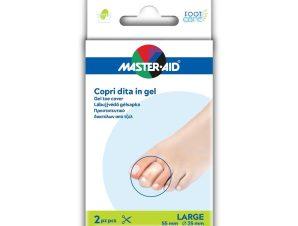 Master Aid Gel Toe Cover Προστατευτικό Δαχτύλων από Τζελ Μέγεθος Large 2 Τεμάχια