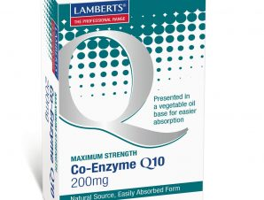 Lamberts Co-Enzyme Q10 Συμπλήρωμα Διατροφής με Ευεργετικές Ιδιότητες για την Καρδιά και το Ανοσοποιητικό Σύστημα 200mg 60Caps