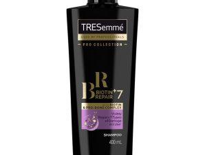 TRESemme Biotin+Repair 7 Shampoo Προστατευτικό Σαμπουάν Κατά της Θερμότητας, Αναδομεί τα Ταλαιπωρημένα Μαλλιά 400ml