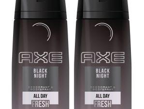 Axe Πακέτο Προσφοράς Black Night Spray Αποσμητικό με Λεπτό και Μυστηριώδες Άρωμα 2x150ml 1+1 Δώρο