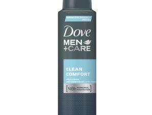Dove Deo Spray Men Care Clean Comfort Ανδρικό Αποσμητικό για Δυνατή Προστασία Κατά του Ιδρώτα & Διακριτικό Άρωμα Όλη Μέρα 150ml