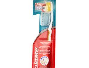 Colgate Slim Soft Ultra Compact Head Οδοντόβουρτσα με Ασύγκριτα Λεπτές Ίνες για Ένα Απαλό Καθαρισμό 1 Τεμάχιο – χρυσό