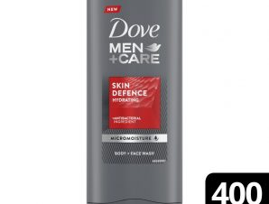 Dove Men & Care Skin Defence Hydrating Shower Ανδρικό Αφρόλουτρο με Αντιβακτηριδιακό Συστατικό Ιδανικό για Σώμα & Πρόσωπο 400ml