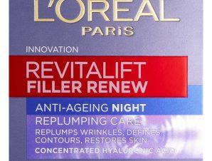 L'oreal Paris Revitalift Filler Night Cream Αντιγηραντική Κρέμα Νύχτας 50ml