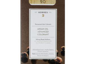Korres Argan Oil Advanced Colorant Μόνιμη Βαφή Μαλλιών με Τεχνολογία Pigment-Lock που Κλειδώνει το Χρώμα 50ml – 9.0 ΚΑΤΑΞΑΝΘΟ ΦΥΣΙΚΟ
