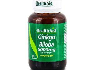 Health Aid Gingko Biloba 5000mg Φυσικό Τονωτικό του Κυκλοφορικού 30 Caps