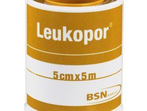 BSN Medical Leukopor Αυτοκόλλητη Υποαλλεργική Επιδεσμική Ταινία 5cm x 5m