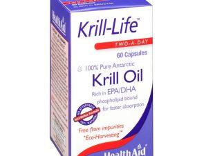 Health Aid Krill Life Krill Oil Πλούσια Πηγή Ωμέγα 3 500Mg 60Caps