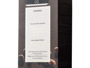 Korres Argan Oil Advanced Colorant Μόνιμη Βαφή Μαλλιών με Τεχνολογία Pigment-Lock που Κλειδώνει το Χρώμα 50ml – 1.0 ΜΑΥΡΟ ΦΥΣΙΚΟ