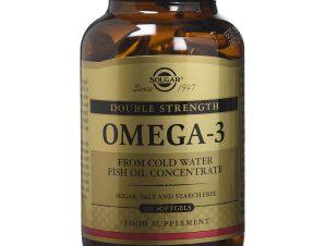 Solgar Omega-3 Double Strength Συμπλήρωμα Διατροφής που Προστατεύει το Καρδιαγγειακό Σύστημα Softgels – 120softgels