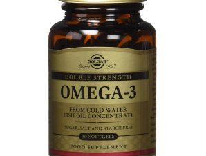 Solgar Omega-3 Double Strength Συμπλήρωμα Διατροφής που Προστατεύει το Καρδιαγγειακό Σύστημα Softgels – 30softgels