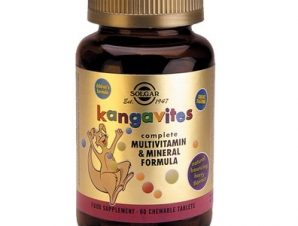 SOLGAR Kangavites Multivitamin & Mineral Formula 60 Chewable Tabs (Berry Flavour)