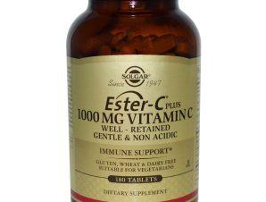 Solgar Ester-C 1000mg Συμπλήρωμα Διατροφής με μη Όξινη Μορφή Βιταμίνης C Tablets – 180 tabs