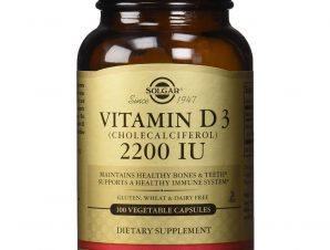 Solgar Vitamin D3 Συμπλήρωμα Διατροφής για την Ομαλή Απορρόφηση του Ασβεστίου απο τον Οργανισμό & την Ενίσχυση του Ανοσ/κου tabs – 2200 iu 100 caps