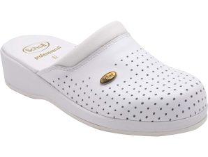 Scholl Shoes Back Guard Σαμπό Λευκό Αναπαυτικά Παπούτσια που Χαρίζουν Σωστή Στάση & Φυσικό Χωρίς Πόνο Βάδισμα 1 Ζευγάρι – 39