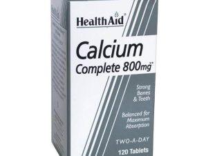 Health Aid Calcium Complete Ασβέστιο 800mg Δυνατά Οστά Και Δόντια 120tabs