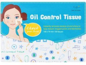 Vican Cettua & Oil Control Tissue, Μαντηλάκια που Απορροφούν την Λιπαρότητα και Μειώνουν τους Φραγμένους πόρους 50τμχ
