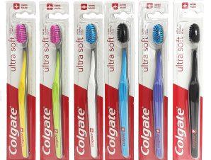 Colgate Ultra Soft Οδοντόβουρτσα με Πολύ Μαλακές Ίνες Κατά της Τερηδόνας & των Επιφανειακών Χρωματικών Λεκέδων 1 Τεμάχιο – λαχανί