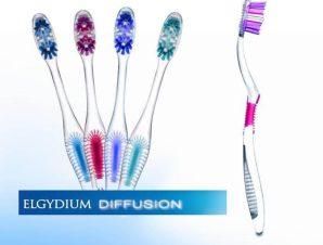 Elgydium Diffusion Οδοντόβουρτσα Με Πρωτοποριακή Τεχνολογία AFT Για Ολοκληρωμένο Και Πλήρη Καθαρισμό Του Στόματος Medium – μπλέ