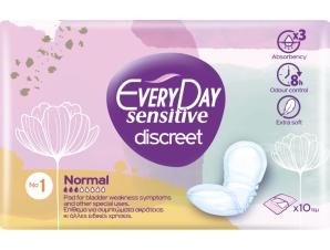 Every Day Sensitive Discreet No1 Normal Σερβιέτες Ενισχυμένης Προστασίας 10 Τεμάχια