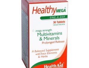 Health Aid Mega Multivitamins Πολυβιταμίνες & Μέταλλα 30tabs