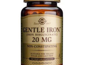 Solgar Gentle Iron 20mg veg.caps – 180 caps