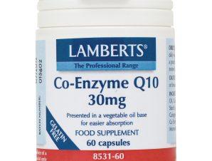Lamberts Co-Enzyme Q10 Συμπλήρωμα Διατροφής για την Παραγωγή Ενέργειας από τα Θρεπτικά Συστατικά της Τροφής 30mg – 60 tabs