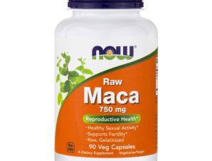 Now Foods Maca 750mg Raw Συμπλήρωμα Διατροφής, Βιολογική Maca για Ορμονική Ισορροπία, Αύξηση Λίμπιντο, Αντοχή 90 VegCaps
