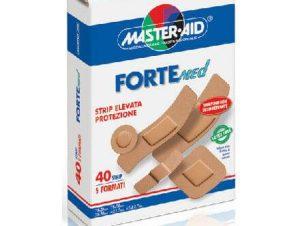 Master Aid Forte med Αυτοκόλλητος Μικροεπίδεσμος Στο Χρώμα Του Δέρματος Σε Κασετίνα Διάφορα Μεγέθη 40 strip