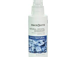 Macrovita Φυσικός Αποσμητικός Κρύσταλλος σε Spray, Φυσικό Άρωμα Natural 100ml